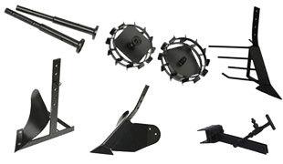 комплект насадок для FJ500 (грунтозацепы, удлинитель, плуг, картофелевыкапыватель, окучник, сцепка) в Грязие